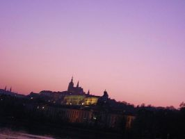 Sunset in Prague by MorgueCaroObitorio