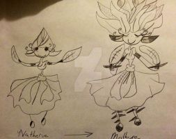 PD FAKEMON: Natheure Evolution by demonofnothing