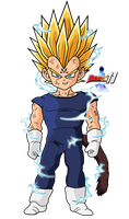 Majin Kid Vegeta by Dairon11