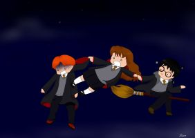 Potter and friends by o0-hiitomii-0o
