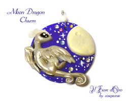 Moon Dragon charm by rosepeonie