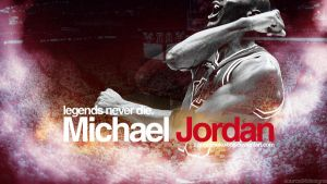 Michael Jordan Legend Wall by Angelmaker666