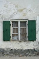 old window green shutters by BlokkStox