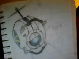 Yet another Wheatley sketch by AzureNightshade