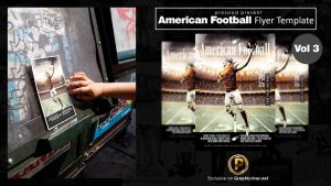 American Football Flyer Template Vol 3 by prassetyo