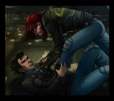 Fallout 3 - Snake Fight by psycrowe