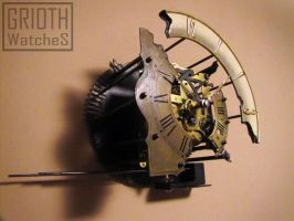 Steampunk Wall Clock by GRIOTH