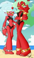 Scanty And Kneesocks Loving The Summer Heat- by paulyt7