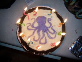 Octopus Cheesecake by CatsCakes