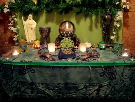 Green Man Altar 2 by Druidstone