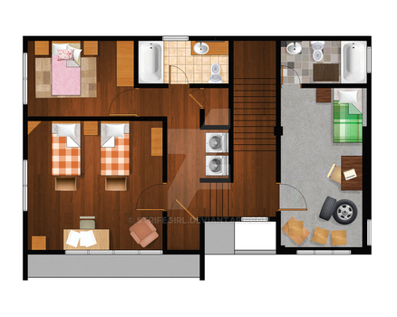 Seventh Heaven Floor Plan - Second Floor by Strifegirl