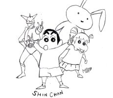 Shin Chan Sketch by MattWelch