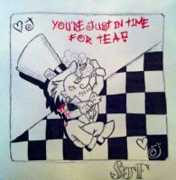 Just in time for tea madhatter by SJFitton