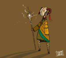 horned mask chaman by Kabazu