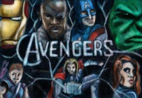 Avengers Digital Sketch Cards by JediSeeker1