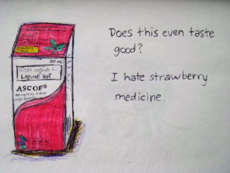 Strawberry Medicine Is Disgusting by sofianime018