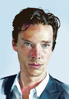 Benedict Cumberbatch by Brainfruit