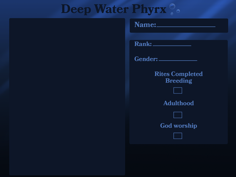 deep water Phyrx app template by lucifers-roomate