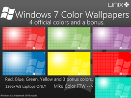 Windows 7 Color Wallpapers by Linix-Arts