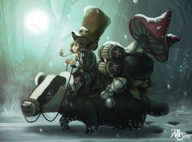 Gnome and Badger by Traaw