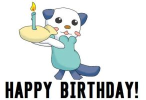 oshawott- happy birthday by moe-kawaii-sunshine