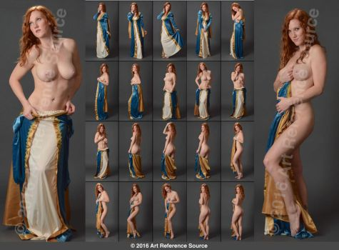 Stock:  Amelia Rose Nude with Princess Gown by ArtReferenceSource