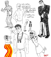 YJ Doodles by AnArtistCalledRed
