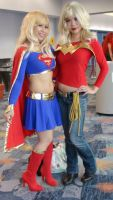 Supergirl and Wonder Girl at WonderCon 2013 by trivto