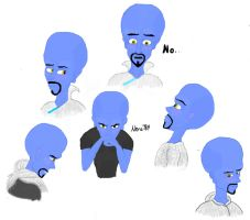 Megamind's Father Sketch Dump -Colored- by Nera789
