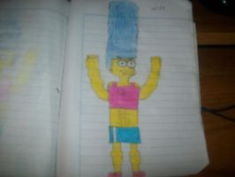 Marge muscular by onlycartoons