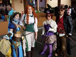 Steampunk Disney Group by cindyrellacosplay