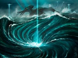 The Uprising of R'lyeh by shiva-tron