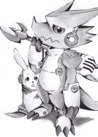 Shoutmon And Cutemon by ArtisticPhun