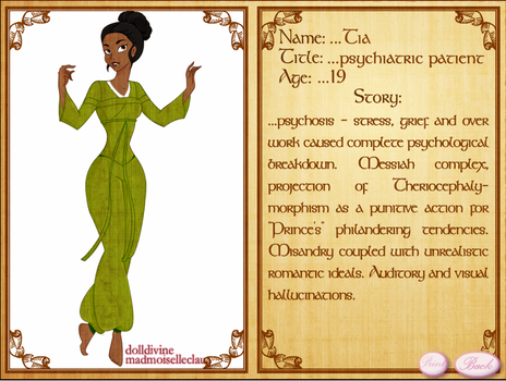 princess psychosis Tiana by CatrionaMalfoy