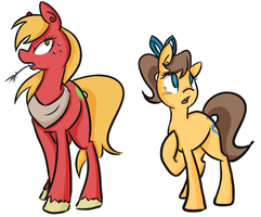 Gender Bent Mac and Caramel by CleppyClep