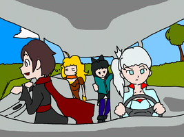 RWBY Car Ride by geek96boolean10