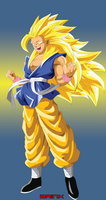 Goku True SSJ 4 form by Brinx-dragonball