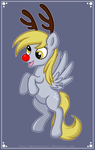 Derpy The Red Nose Pony by MeckelFoxStudio