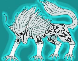 Silver Fanged Toan (colored) by BlackCatOfFire