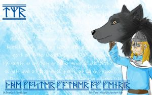 Tyr Wallpaper : The Foster Father of Fenrir by Rei-Yami-Hikari