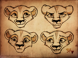 Cub Zira Sketches by EmilyJayOwens