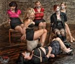 Group shot - Beauties in Bondage Event by Damien2011