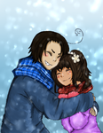 [sketch colour] Winter Hugs! by melonstyle