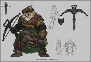 Disciples III Dwarf Crossbowman by NapalmDruid