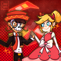 Star and Marco- Blood Moon ball by ShounenRaccoon