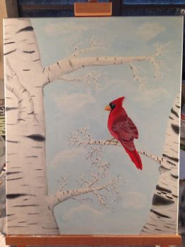 The Cardinal WIP based on Matthew 6:26 by EmaleeAnderART
