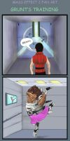 Mass Effect 2 Grunt's training by Agregor