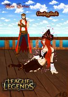 League of Legends: Miss Fortune and Gangplank by BlackKissu