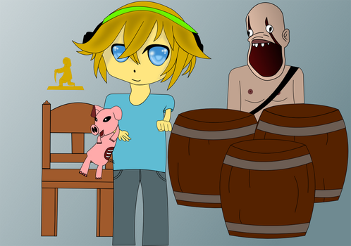 PewDiePie and the gang by bushybro4