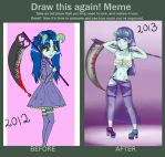Demon before and after meme by SureIAm